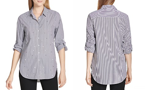 Calvin Klein Embellished Button-Down Top - Bloomingdale's_2