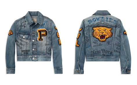 Polo Ralph Lauren Boys' Tiger Patch Varsity Denim Jacket - Big Kid - Bloomingdale's_2