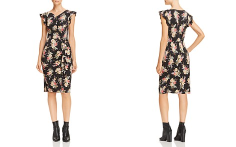 Rebecca Taylor Ruched Floral-Print Dress - Bloomingdale's_2