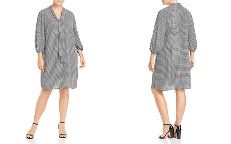 Adrianna Papell Plus Printed Tie-Neck Shift Dress - Bloomingdale's_2