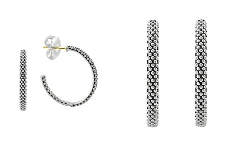LAGOS Sterling Silver Signature Caviar Hoop Earrings - Bloomingdale's_2