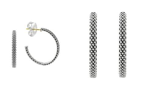 LAGOS Sterling Silver Signature Caviar Hoop Earrings - Bloomingdale's_2