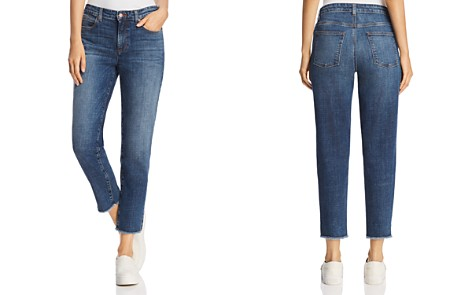 Eileen Fisher Frayed Ankle Jeans in Aged Indigo - Bloomingdale's_2