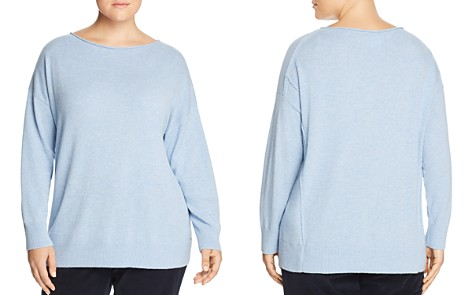 Lafayette 148 New York Plus Relaxed Cashmere Sweater - Bloomingdale's_2