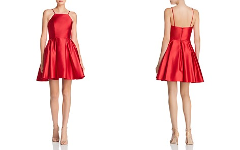 Avery G Satin Fit-and-Flare Dress - Bloomingdale's_2