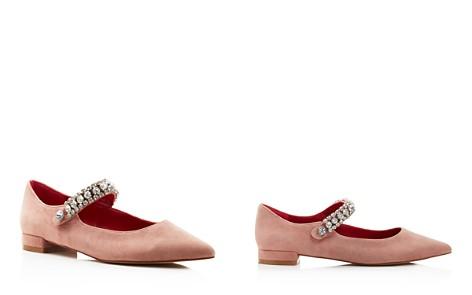 Kurt Geiger Women's Kingly Pointed Toe Suede Ballerina Flats - Bloomingdale's_2