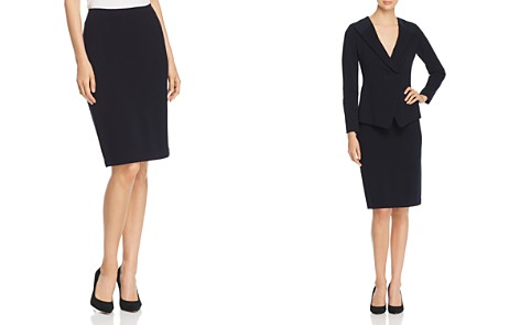 Emporio Armani Micro-Rib Pencil Skirt - Bloomingdale's_2