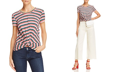 AQUA Striped Twist-Front Tee - 100% Exclusive - Bloomingdale's_2