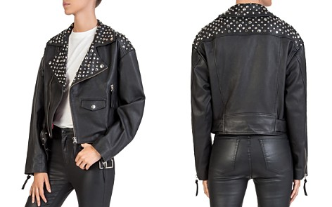 The Kooples Studded Leather Moto Jacket - Bloomingdale's_2