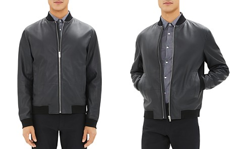 Theory Brenton Leather Bomber Jacket - Bloomingdale's_2