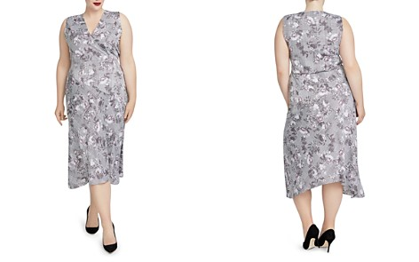 Rachel Roy Plus Giles Mixed-Print Midi Dress - Bloomingdale's_2
