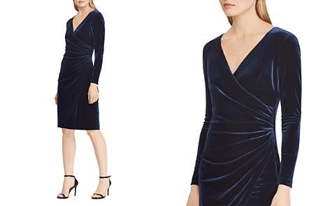Lauren Ralph Lauren Velvet Faux-Wrap Dress - 100% Exclusive - Bloomingdale's_2