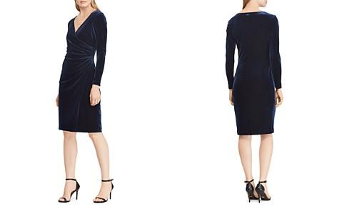 Lauren Ralph Lauren Petites Velvet Surplice Dress - Bloomingdale's_2