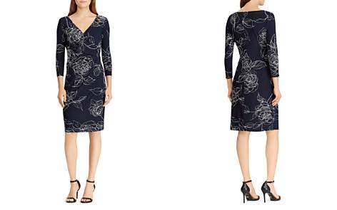 Lauren Ralph Lauren Petites Surplice Jersey Dress - Bloomingdale's_2