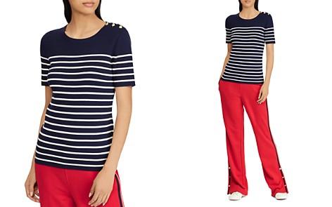Lauren Ralph Lauren Striped Short-Sleeve Sweater - Bloomingdale's_2