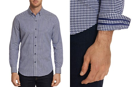Robert Graham Canvey Modern Houndstooth-Print Tailored Fit Shirt - 100% Exclusive - Bloomingdale's_2