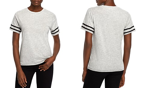 Michelle by Comune Dryden Stripe-Sleeve Tee - Bloomingdale's_2
