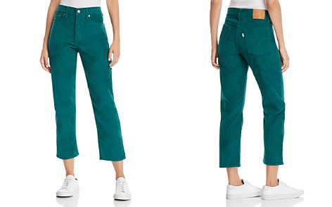 Levi's Wedgie Straight Corduroy Jeans in Evergreen - Bloomingdale's_2
