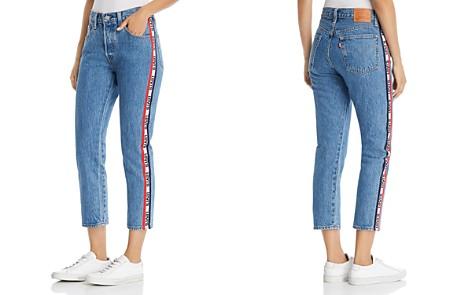 Levi's 501 Logo-Stripe Crop Straight Jeans in Spectator Sport - Bloomingdale's_2