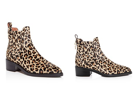 COACH Women's Bowery Leopard Print Calf Hair Block-Heel Booties - Bloomingdale's_2