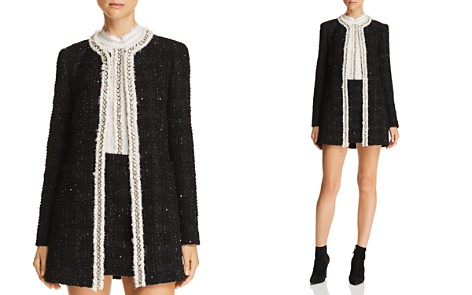 Alice + Olivia Andreas Embellished Metallic Plaid Jacket - Bloomingdale's_2