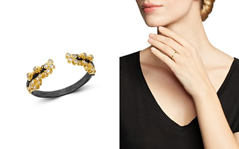 Armenta 18K Yellow Gold & Blackened Sterling Silver Old World Champagne Diamond Stacking Ring - Bloomingdale's_2