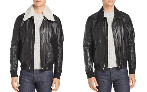 Belstaff Arne Shearling-Trimmed Leather Jacket - Bloomingdale's_2