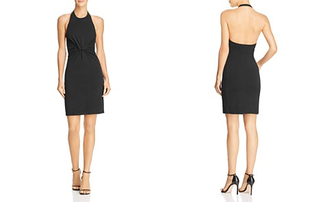 T by Alexander Wang Twisted Jersey Halter Dress - Bloomingdale's_2