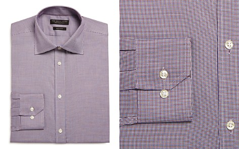 The Men's Store at Bloomingdale's Micro Houndstooth Regular Fit Dress Shirt_2