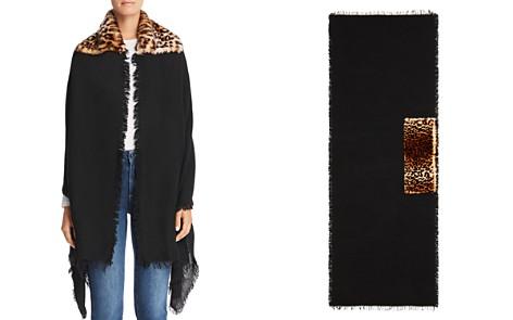 Gaynor Sara Leopard Faux Fur Detail Wrap - Bloomingdale's_2