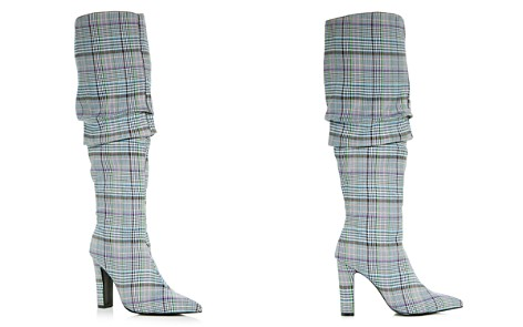 JAGGAR Women's Fortune Check Pointed Toe High-Heel Boots - Bloomingdale's_2