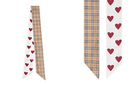 Burbery Check & Heart Reversible Silk Skinny Scarf - Bloomingdale's_2