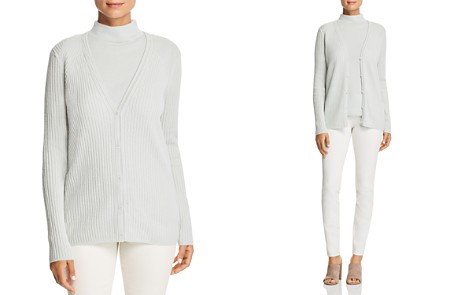 Lafayette 148 New York Ribbed Cashmere Cardigan - Bloomingdale's_2