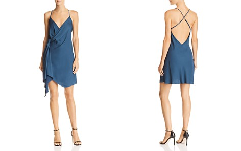 Michelle Mason Draped Mini Dress - Bloomingdale's_2