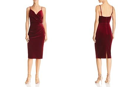 Aijek Faux-Wrap Velvet Dress - 100% Exclusive - Bloomingdale's_2
