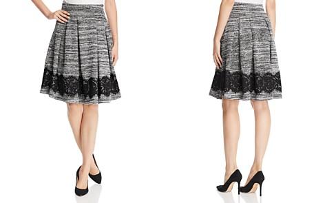 KARL LAGERFELD Paris Marled Knit Lace Hem Skirt - Bloomingdale's_2