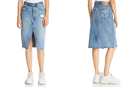 Levi's Deconstructed Denim Skirt in Original Sinner - Bloomingdale's_2