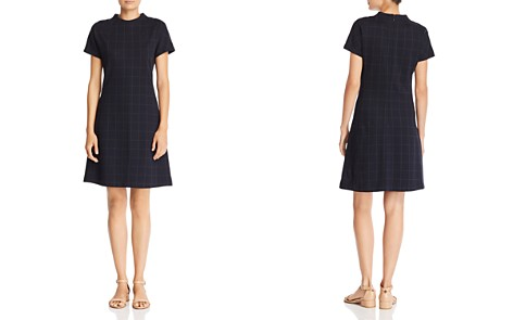 Theory Windowpane Check Dress - Bloomingdale's_2