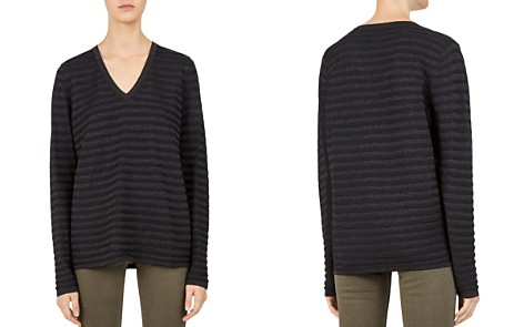 Gerard Darel Cherryl Metallic-Stripe Sweater - Bloomingdale's_2