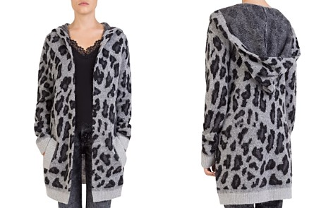 The Kooples Leopard-Print Hooded Long Open Cardigan - Bloomingdale's_2