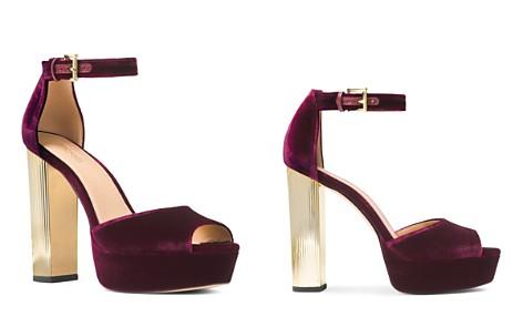 MICHAEL Michael Kors Women's Paloma Velvet High Heel Platform Sandals - Bloomingdale's_2