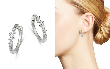 Bloomingdale's Diamond Scatter Small Hoop Earrings in 14K White Gold, 0.40 ct. t.w. - 100% Exclusive_2