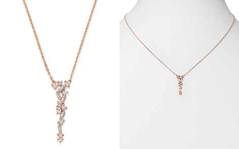 Bloomingdale's Diamond Scatter Necklace in 14K Rose Gold, 0.33 ct. t.w. - 100% Exclusive_2