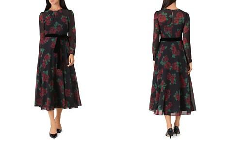 HOBBS LONDON Lolita Rose Print Midi Dress - Bloomingdale's_2