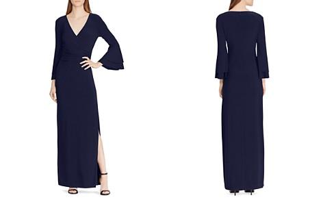 Lauren Ralph Lauren Bell-Sleeve Jersey Gown - Bloomingdale's_2