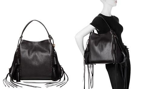 COACH Edie Leather & Suede Tassel Shoulder Bag - Bloomingdale's_2