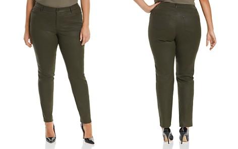 Lafayette 148 New York Plus Thompson Waxed Skinny Jeans in Basil - Bloomingdale's_2