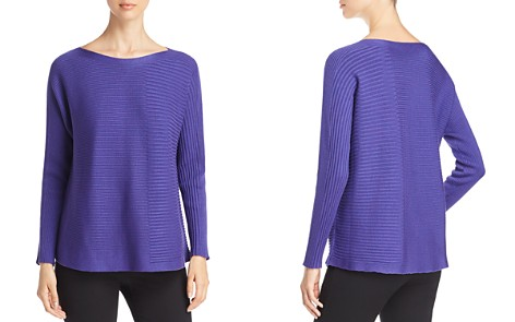 Eileen Fisher Petites Mixed Rib Sweater - Bloomingdale's_2