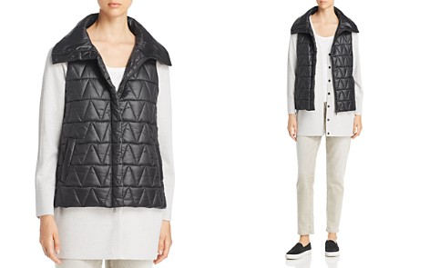 Eileen Fisher High Collar Puffer Vest - Bloomingdale's_2