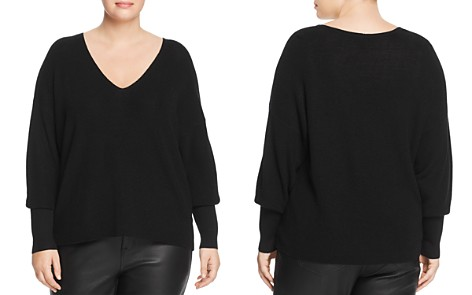 Eileen Fisher Plus V-Neck Sweater - Bloomingdale's_2